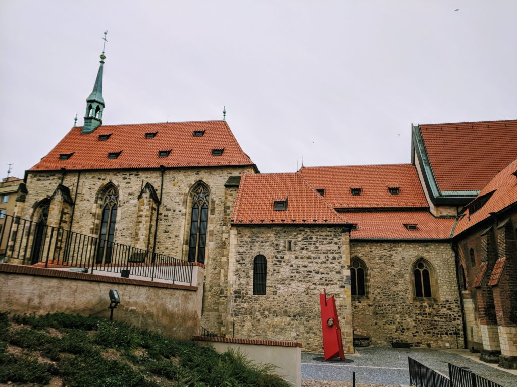 Church with monastery buildings