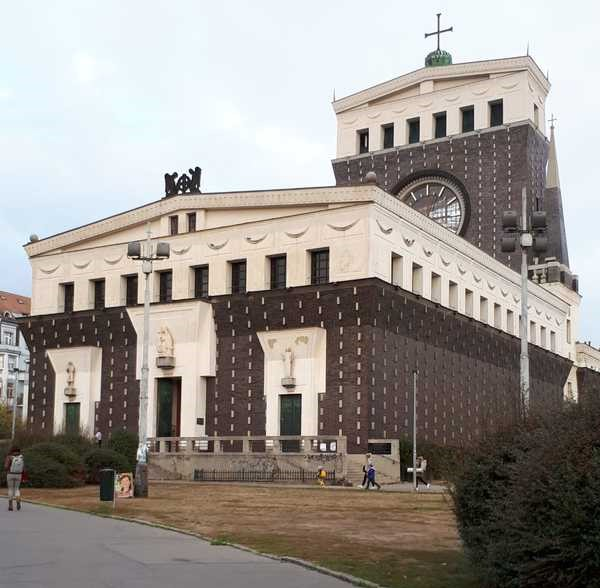 Church of the sacred Heart which is the main dominant of the square Jiriho z Podebrad